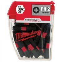 Milwaukee Bity Shockwave PH2, 25mm, sada 25ks